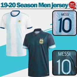 Jerseys uniformes argentina on-line-afastado # 9 Agüero # 21 DYBALA nº 22 uniformes de futebol 2,020 Argentina de Futebol Início # 10 MESSI futebol shirt 19/20 Copa América Lautaro