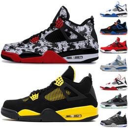 8fc7383ecb09 2019 basketball shoes best Meilleure Qualité 4 4S Hommes Chaussures de  Basketball Chat Noir Ciment Blanc