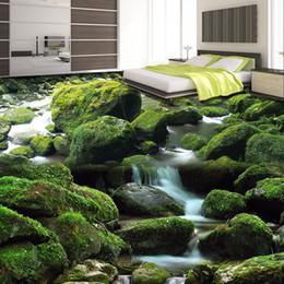 Naturboden online-Benutzerdefinierte 3D-Fototapete Bodentapeten Natur Landschaft Wohnzimmer Schlafzimmer Boden Dekoration Mural Wasserdicht Papel De Parede