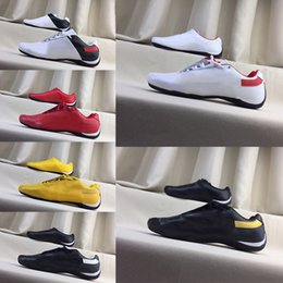 locomotive shoes Promo Codes - 2019 Errari Locomotive Shoes Men Women Future Cat Leather Sf Casual Shoes High Quality Fashion Leather Shoes Size 37-45