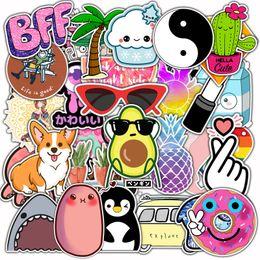 Kawaii telefonaufkleber online-50 PC-nette Aufkleber für Kinder DIY Laptop Fahrrad Skateboard Gepäck Gitarre Telefon Kühlschrank Abziehbilder Kawaii Tier-Karikatur-Aufkleber L