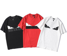 moda france Desconto Designer de verão t shirt dos homens hip-hop impressão personalidade homens Fendis marca t-shirt França Paris moda de luxo camisa de algodão Puro