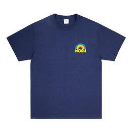 2019 camiseta de chuva 2019Designer em torno do pescoço dos homens T-shirt NOAH 19SS RAIN SHOP TEE dos homens nova moda casual marca camiseta de algodão camiseta de chuva barato