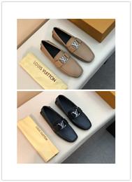Chaussures de travail décontractées et respirantes en Ligne-2019 hommes d'affaires en cuir véritable chaussures 3 couleurs luxe conception haute qualité casual et affaires confortable respirant
