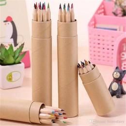 cor de chumbo Desconto Eco-friendly colorido Cor de chumbo desenho lápis de madeira Cor Lápis Conjuntos de 12 cores crianças coloridas desenho lápis crianças aa350-357 20180108