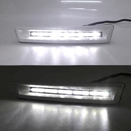 Luz led para land cruiser on-line-2pcs 12v LED CAR DRL Daytime Running luz para a Toyota Prado FJ150 LC150 Land Cruiser 2700/4000 2010 2011 2012 2013