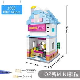 rompecabezas de animales bricolaje Rebajas Juguetes para niños LOZ Partículas pequeñas Bloques de construcción Juguetes de ortografía 1601-1644 Mini Street Scene Toy para niños