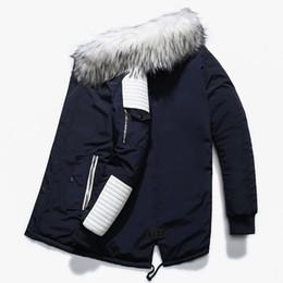 langer Mantel der großen Pelzkragenmänner des heißen neuen Luxusaußenhandels langen Mantel der starken Männer von Fabrikanten