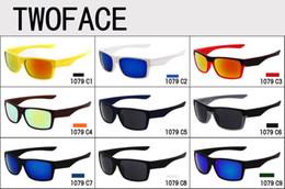 gafas de sol de dos colores Rebajas 10 unids marca de verano hombres CALIENTES de moda 9 colores gafas de sol de conducción 100% UV400 Dos caras gafas de sol deportivas al aire libre 1079 Diseño Gafas de sol Gafas de sol