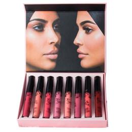 2019 marca de labios Mariposa rosa con brillo de labios de 8 colores, sin marcas, sin decoloración, resistente al agua juego de labios, maquillaje, belleza rebajas marca de labios