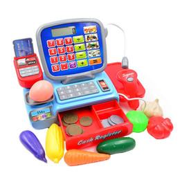 [TOP] Pretend Play Caissier Caisse enregistreuse avec vraie calculatrice Jouet POS + Calculatrice + balance électronique + PIECES + aliments set enfants cadeau ? partir de fabricateur