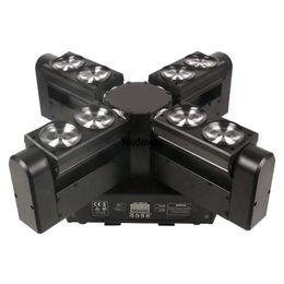 A buon mercato in movimento online-10 pezzi led fascio scansione dj illuminazione 8x12 W rgbw 4in1 led spider fascio a buon mercato luci a testa mobile