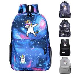 Bolsas de estudiantes universitarios online-Unicornio Animal Mochilas College School Book Bag Galaxy Mochila Saco Viajes Senderismo Camping Mochila Para Estudiante Mochila