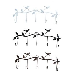 Sobre cabides de porta on-line-5 Hooks Wall Hanging rack organizador porta cabide Ganchos Bearing sobre a porta Titular Toalheiros