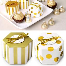золотые сладкие коробки Скидка Золото Белого Фестиваль бумаги Рождество Свадьба Sweet Candy Box Фавор сумки партия Крафт Шоколад Коробка Портативных Упаковка для подарков