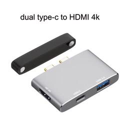 Argentina Concentrador USB C para MacBook Pro 2018/2017/2016 / MacBook Air 2018, adaptador portátil de tipo C a HDMI con convertidor de carga de PD cheap cable hdmi blackberry Suministro