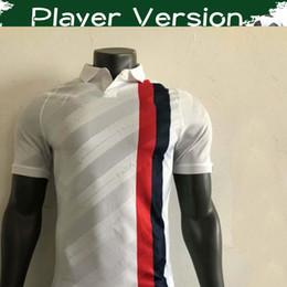 Spieler weißer fußball online-Player Version Paris 3. Fußball Trikots 2019/20 Paris # 10 NEYMAR JR # 7 MBAPPE Fußball Trikots 2019 Third White # 9 CAVANI Fußball Uniformen