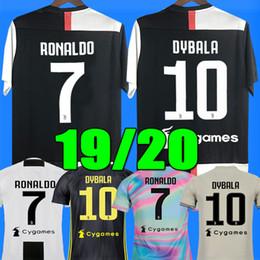 Nuevo 2019 RONALDO JUVENTUS Jersey de fútbol 18 19 JUVE 2018 Local Visitante DYBALA HIGUAIN BUFFON Camisetas Futbol Camisas Maillot Football Shirt desde fabricantes