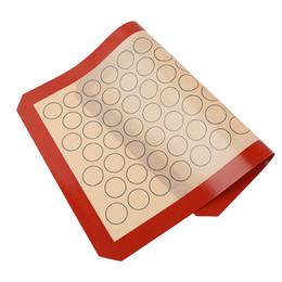 2019 aa creme Macaron Silikon Backmatte Ofen Gebäck Non Stick Kreis Makronen Kuchen Pad Blatt Küche Rollen Teigmatte Liner Backen Werkzeug