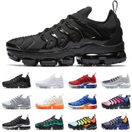 uk availability 42e79 7dadb 2019 nike Vapormax TN Plus zapatillas deportivas para hombre mujer  zapatillas PURE PLATINUM triple negro blanco aire fresco lobo gris para  hombre zapatillas ...