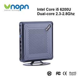 2019 escritorio intel i5 Mini PC Intel Core i5 6200U Dual-core 2.3-2.8GHz Windows / Linux HD-MI Computadoras VGA HTPC Computadora Nettop 8xUSB SSD 256G con WIFI escritorio intel i5 baratos