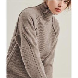 wool jerseys Promo Codes - Cashmere Sweater Female 2018 Autumn Winter Solid Knitted Women Sweater wool Pullover Thick Tricot Jersey Jumper Pull Femme tops
