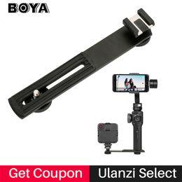 soportes de micrófono led Rebajas Aluminio zapata adaptador de micrófono soporte de pie para Zhiyun Smooth Smooth 4 Q, trípode para la cámara réflex digital de vídeo LED Light Monitor