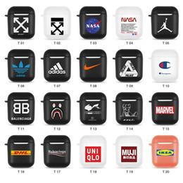 2019 nagelneuer wasserdichter telefonkasten TPU Airpods Fall für Apple Famous Brand Designer Airpods Fall für 1 und 2 Wireless Bluetooth Kopfhörer Air Pods Pouch Schutzhülle
