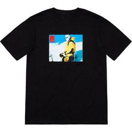 fotos calientes masculinas Rebajas Marca de moda Ventas calientes Diseño moda Hombre esquí de alta calidad Foto Impreso camiseta de algodón Tee