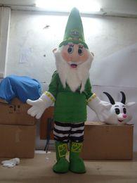 2019 conejito conejo marioneta Nuevo traje de la mascota de Papá Noel Mascotte lindo Papá Noel rojo o verde ropa trajes de fiesta de Navidad vestido de fiesta de lujo