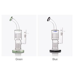 2019 bol d'huile de vapeur 11 pouces bleu TORO bong en verre épais Heady Oil Rigs bangs de verre conduites d'eau recycleur Dab brûleur de vapeur 14mm joint femelle avec bol bol d'huile de vapeur pas cher