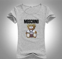 Deutschland Sommer Stil Frauen Designer T-Shirt Frauen Kurzarm Shirt Kleidung Strass schmücken Teddybär T-Shirts Rundhalsausschnitt Designer Tops Tees Versorgung