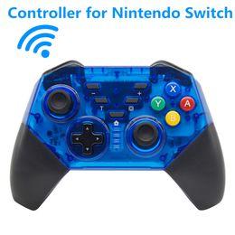 Dual gamepad sem fios on-line-Soundfox Gamepad NS Sem Fio Bluetooth Game Joystick Gamepad Para Nintendo Switch Gaming Controller Com Pacote de Gamepad Dupla Vibração