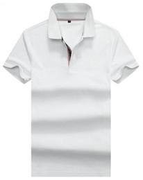 polo sport blue Rebajas Compras Primavera Inglaterra Hombres Londres Polos Británicos Con Caballo Algodón Polo sólido Camisa deportiva masculina Rojo Azul marino S-XXL