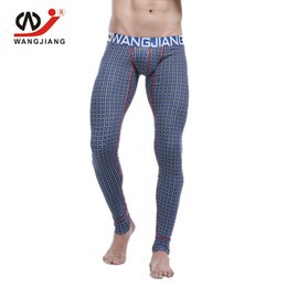 WJ 2018 Winter Warm Men Long Johns Cotton Underwear termica da uomo Thermo Underwear Long Johns Pantaloni termici da wj pantalone lungo fornitori