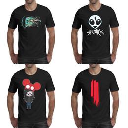 2019 camisa de pintura vintage Receso Skrillex negro camisetas para hombre diseño de la camisa vintage diseñador amigos casual t Deadmau5 Pintura Skrillex_0007_-19 Símbolo Cráneo rebajas camisa de pintura vintage