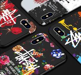 2019 arte telefone celular EUA moda designer marca caso para iphone 6 6 s 7 plus 8 plus x xs xr max camuflagem luminosa arte graffiti casos de telefone celular de silicone macio arte telefone celular barato