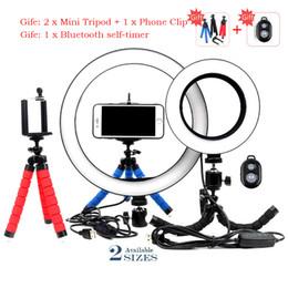 16/26 cm Regulable LED Selfie Anillo Luz Fotografía Estudio Video Teléfono Con MiNi TripodUSB Plug transmisión en vivo Anillo Lámpara desde fabricantes