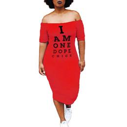 643da3e33e0d6 2019 robe mi-longue taille taille midi Sexy T Shirt Dress Eté Slash Neck  Manche