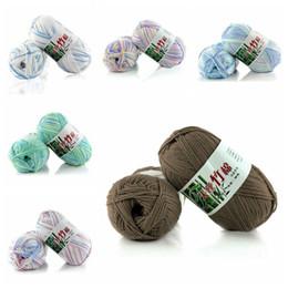 bolsas de regalo de tela de encaje Rebajas El hilo de algodón del bebé para el ganchillo mediano grosor de línea mano tejer hilo de algodón de la leche infantil ganchillo hilo