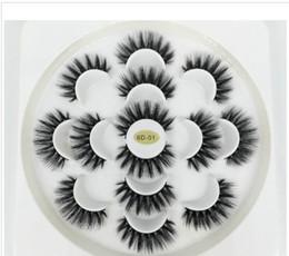 Mais recente 7 pares Cílios 3D Handmade Natural longos do falso vison Lashes Mulheres Maquiagem Falsa Ferramentas Lashes extensões de maquiagem Drop Shipping de