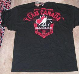 Canada NOUVEAU T-shirt de hockey sur glace Équipe Canada Maple Leaf 2XL XXL Old Time Hockey NOUVEAU T-shirt TNO hommes Femmes Unisexe Mode Livraison gratuite drôle drôle Offre