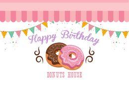 Mutlu doğum günü donuts ev bebek çocuk fotoğraf arka plan fotoğraf arka planında kaliteli vinil nereden