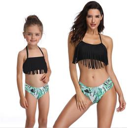 51b8b35682 Girls Swimwear Family Matching Bikini Shorts 2pcs Sets Mother Kids Bathing  Suits Summer Fashion Swimming Costumes 3 Colors YW2622