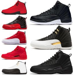 100% authentic 2de8b 81a6d Retro Air Jordan 12 AJ12 Nike Basketball-Schuhe 12 12s Mens Gym Red Bulls  TAXI der Master-Blue-Grippe-Spielmänner der Herrenhyper Sport-Turnschuhe  7-13 ...