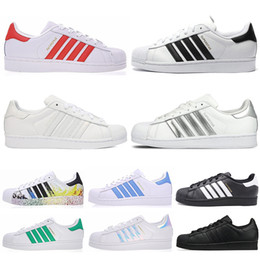 save off 34029 41cf5 2019 scarpe piatte originali adidas 2019new Originals superstar scarpe  casual da uomo donna nero bianco oro