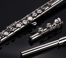 Никелированный флейта 16 отверстий c ключ закрытый ключ электронной Сплит новый студент флейта для начинающих от