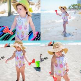 Costume da bagno per bambina, ananas, sottotuta, costumi da bagno, sottotuta, completo da beachwear da
