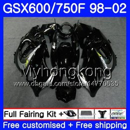 Carenados gsxf online-Body stock negro caliente Para SUZUKI GSXF 750 600 GSXF750 1998 1999 2000 2001 2002 292HM.35 GSX 600F 750F KATANA GSXF600 98 99 00 01 02 Carenado