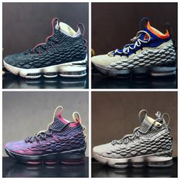 buy popular 90745 b6a50 Nike Air Lebron James LBJ15 LBJ heißer verkauf billig Männer Frauen Sport  draußen schuhe 15 EP Stolz von Ohio 897648 003 001 Luxus designer basketball  ...